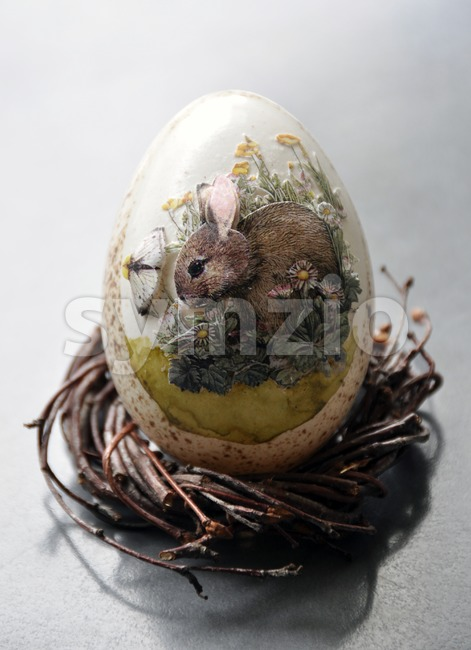 Decorative easter egg Stock Photo