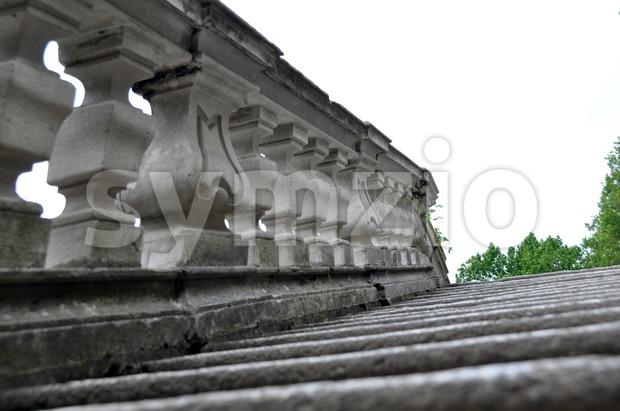 Old mediterranean staircase Stock Photo