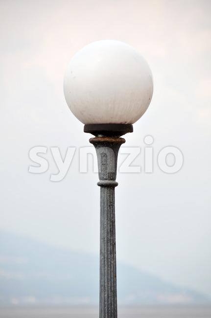 Old marina light Stock Photo