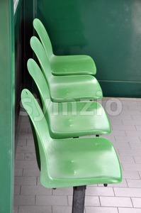 Waiting Area Chairs Stock Photo