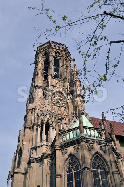 Johanneskirche Stuttgart Feuersee Stock Photo