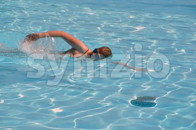 Female swimming the crawl 1 Stock Photo