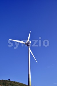 Wind turbine - the right way Stock Photo