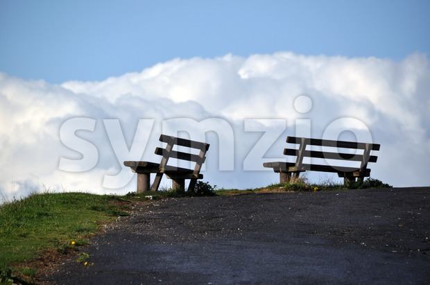 Benches with a view Stock Photo