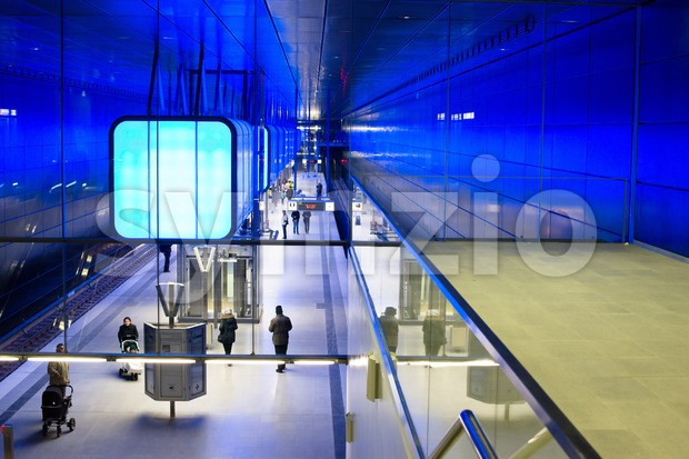 New Hafencity station in Hamburg Stock Photo