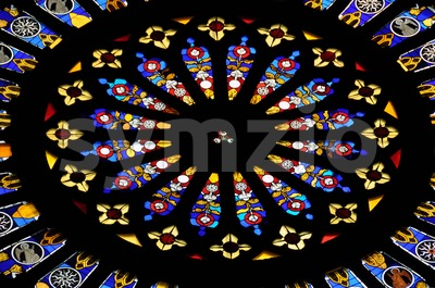 Stained glass window 1 Stock Photo