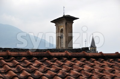 Old roofs in ancient city Stock Photo