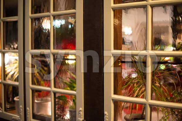 Traditional pub window Stock Photo