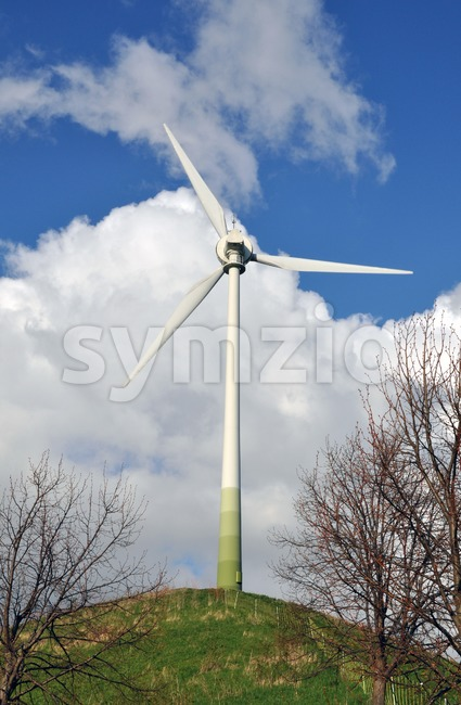 Wind turbine - alternative energy source Stock Photo