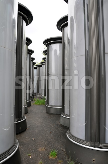 Collection of advertising columns Stock Photo