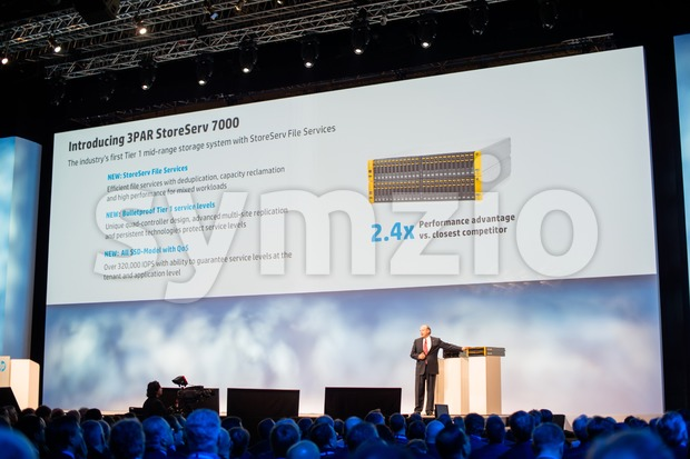 FRANKFURT – DECEMBER 4, 2012: HP Execute Vice President  and General Manager Enterprise Group Dave Donatelli  delivers a ...