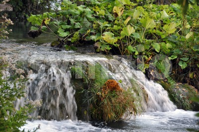 Small river and waterfall Stock Photo