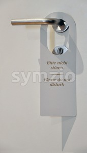 Hotel tag Please do not disturb Stock Photo