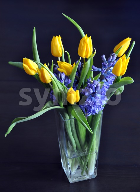 Spring flower bouquet Stock Photo