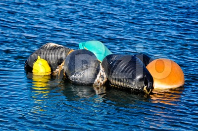 Colourful Buoys Stock Photo