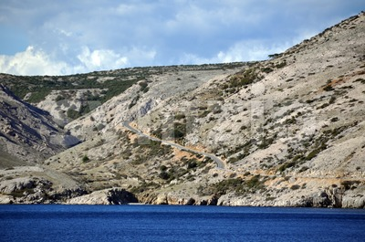 Croatian rugged coastline Stock Photo