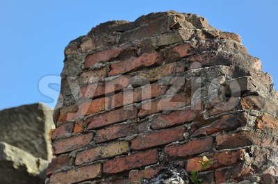 Left over ruin of a wall Stock Photo