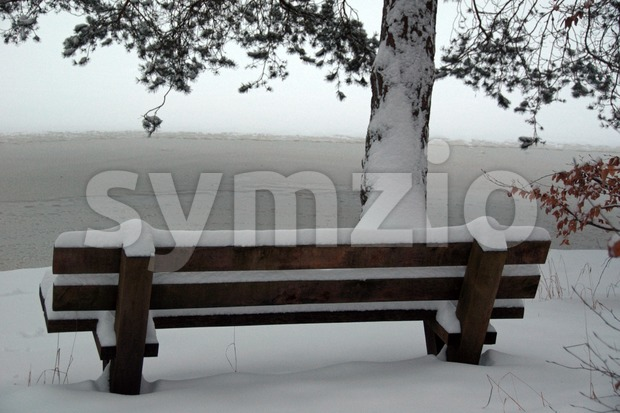 Snow scenario Stock Photo