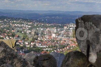 View on Stuttgart from Birkenkopf Stock Photo
