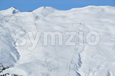 Steep skiing mountain Stock Photo