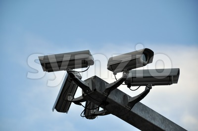Surveillance Cameras Stock Photo