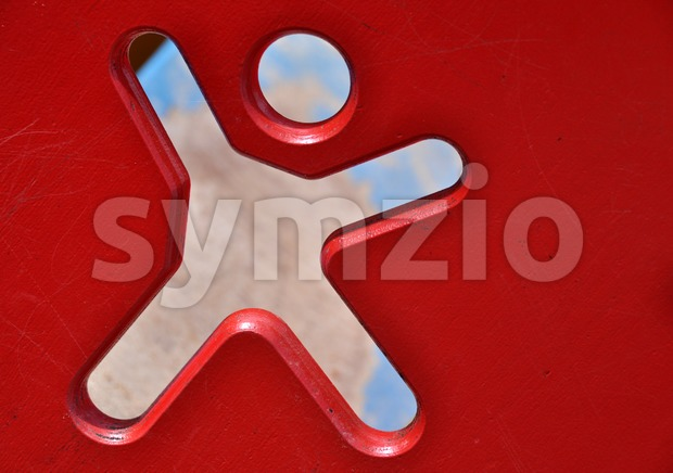 Symbol at playground Stock Photo