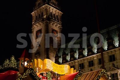 traditional christmas market in Hamburg, Germany Stock Photo