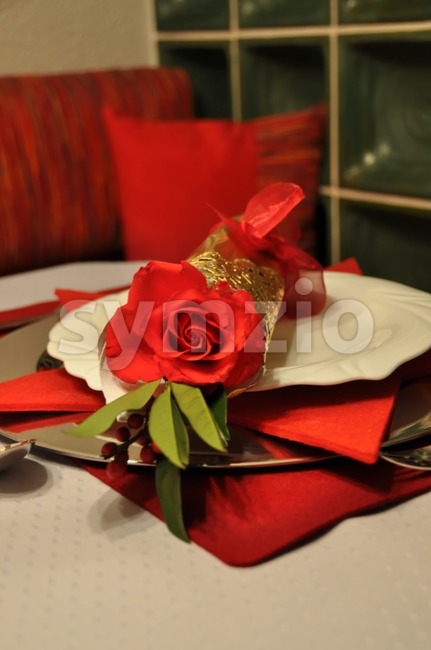 Festive dinner table Stock Photo