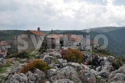 Ancient croation village Stock Photo