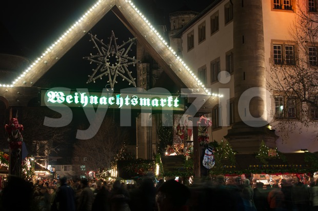 Christmas Market In Stuttgart Stock Photo