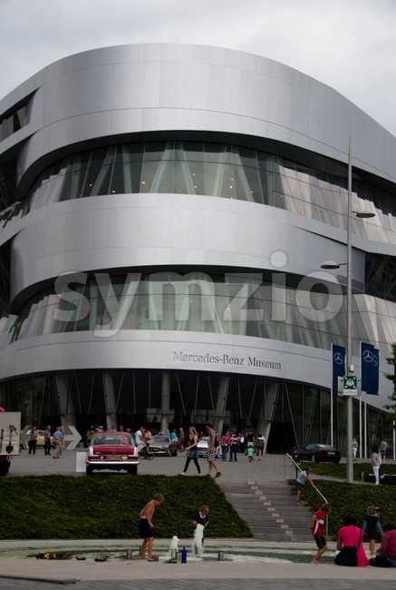 Mercedes Benz Museum Stock Photo