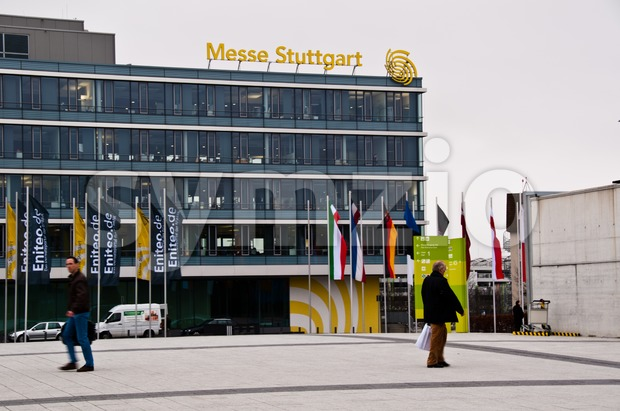 New Stuttgart Trade Fair Administrative Building Stock Photo