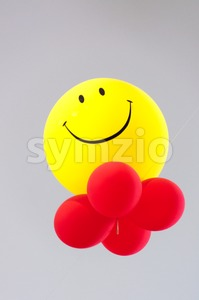 Happy, smiley balloons Stock Photo