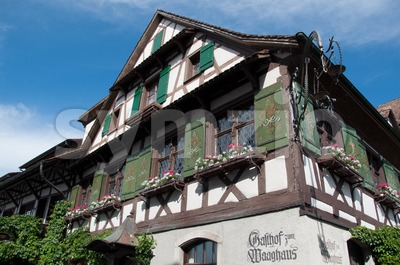 "Beautiful Restaurant ""Waaghaus"" in Gottlieben, Switzerland Stock Photo"