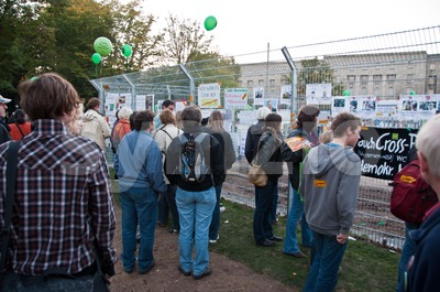 Stuttgart - Oct 09, 2010: Demonstration against S21 project Stock Photo