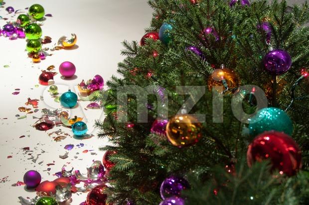 Christmas Desaster Stock Photo