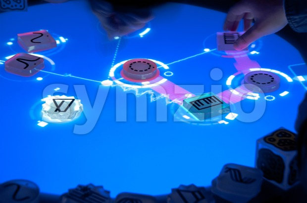 Workshop using the Reactable Stock Photo