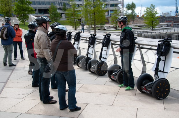 Segway Introduction and tour Stock Photo