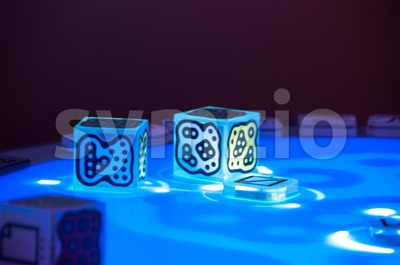 DJ-Set using the Reactable Stock Photo