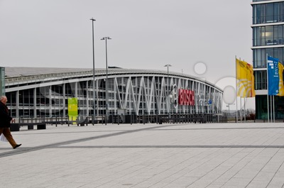 New Stuttgart Trade Fair - Car Park Stock Photo
