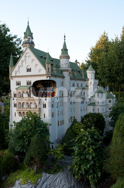 Neuschwanstein Castle built out of Lego bricks Stock Photo