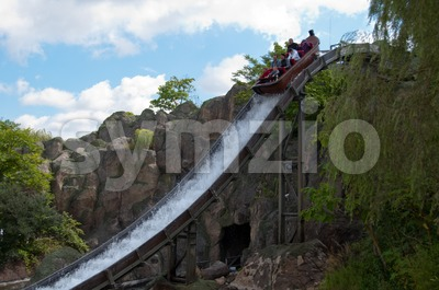 Water slide / fume at fun park Stock Photo