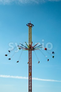 Chain Swing Ride Stock Photo