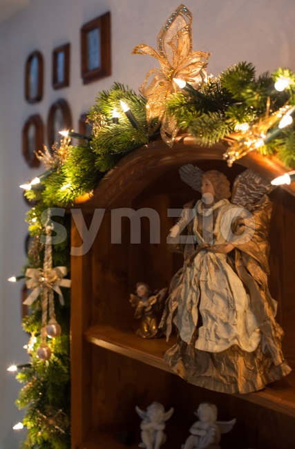 Background of Christmas decorations Stock Photo