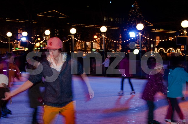 Skating Rink Stock Photo