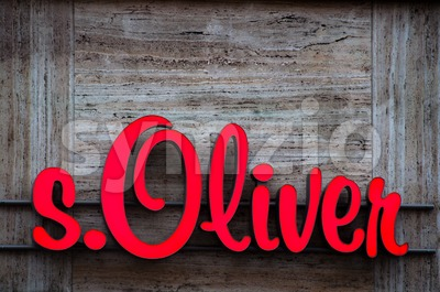 s.Oliver logo (neon sign) Stock Photo