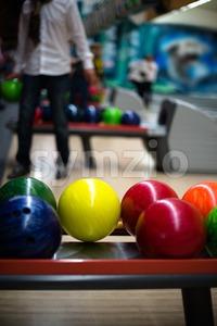 Bowling scene Stock Photo