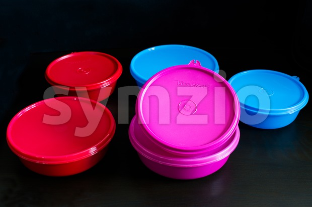 Tupperware boxes Stock Photo