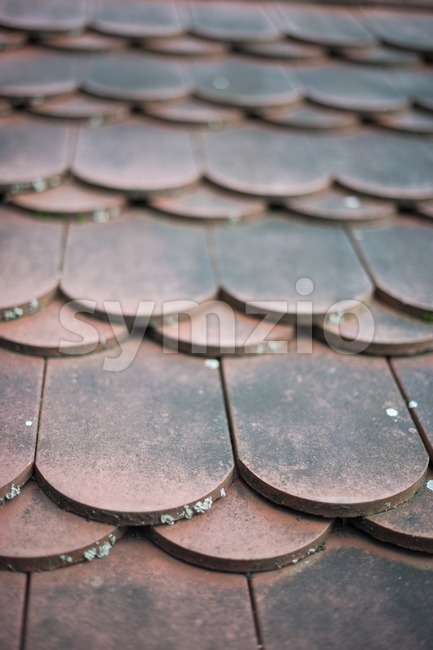old house red roof tiles Stock Photo