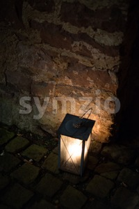 Old kerosene lantern Stock Photo